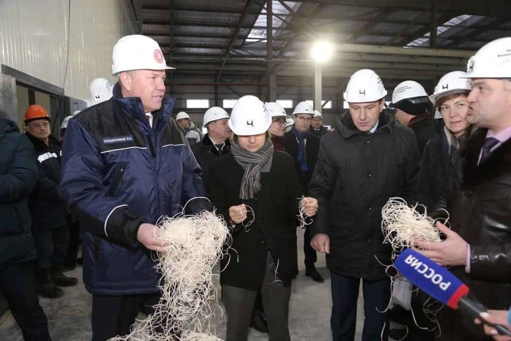 В городе металлургов запустили завод по производству фибролитовых плит и стеновых панелей на территории индустриального парка «Череповец»